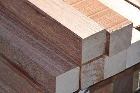 Bongossi Balken/Schnittholz 95 x 95mm, gehobelt